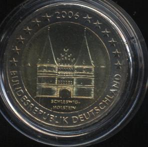 2€_012_Deutschland_2006_Holstentor_Lübeck