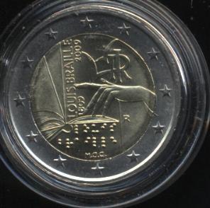 2€_088_Italien_2009_Braille