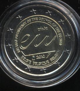 2€_098_Belgien_2010_Ratspräsidentschaft